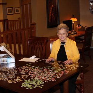Resident Puzzles at Engel Haus Senior Living