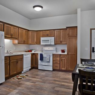 Residents Kitchen at Riverview Landing