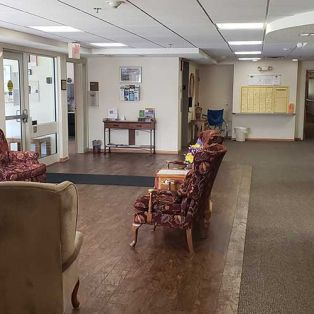 Waiting Area at Pine Cone Manor